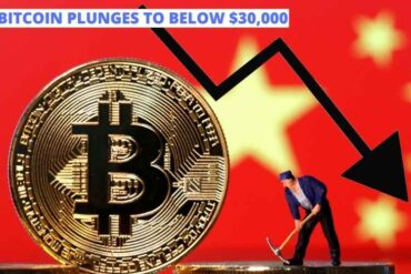 Bitcoin plunges to below $30,000